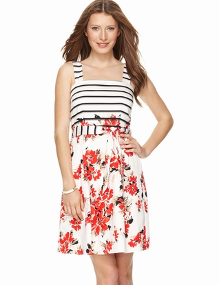 LIMITED Striped Floral Dress