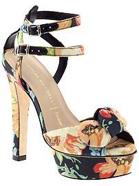 Piperlime Floral Platform Heels