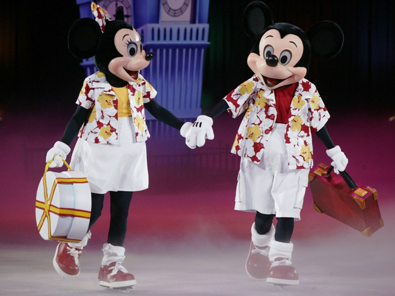 Scenes starting traditions with disney on ice redhead