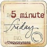 Five Minute Friday {On Saturday }: Delight